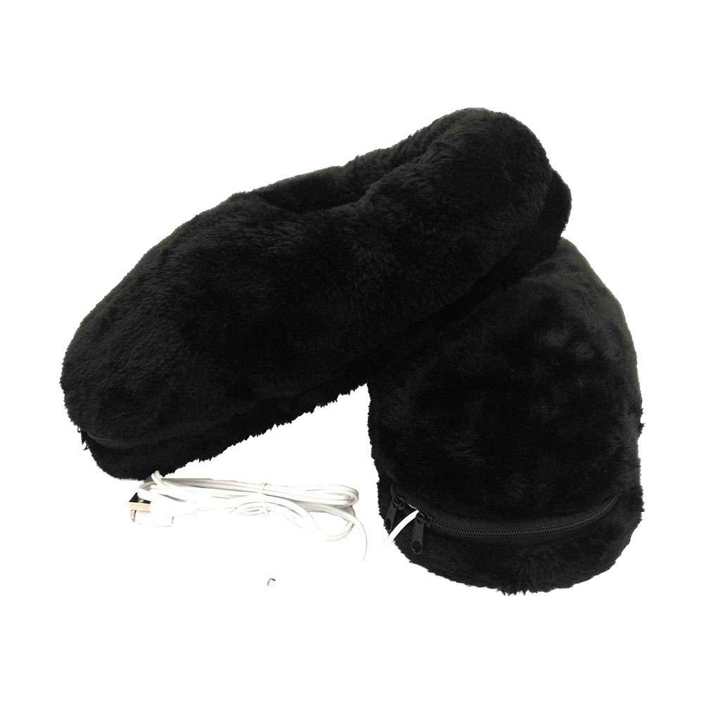 1/par para Garder los Zapatos de Peluche chauffantes Plus Calientes para los pies en Invierno Waroomss calcet/ín de calefacci/ón el/éctrica USB