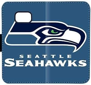 Seattle Seahawks G1E5I Funda Samsung Galaxy Note Funda de cuero 5 caja de la carpeta del caso del tirón 26e32s funda rígida personalizable