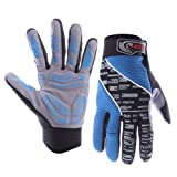 Masione® Full Finger Fitness Gloves Outdoor Cycling Bike Bicycle Motorcycle Driving Sports Racing Game Gloves -M