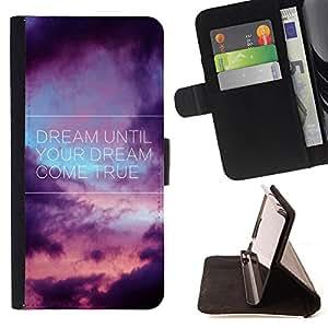 Dragon Case - FOR Sony Xperia Z3 D6603 - your dream come true - Caja de la carpeta del caso en folio de cuero del tir¨®n de la cubierta protectora Shell