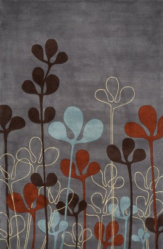 Momeni Rugs NEWWANW125STE26E0 New Wave Collection, 100% Wool Hand Carved & Tufted Contemporary Area Rug, 2'6