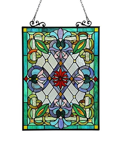 Victorian Tiffany Style Stained Glass Window Panel ()