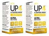Up4 Ultra High Potency Probiotic Supplement (Pack of 2) with 50 Billion CFU and Powerful Digestive and Immune Support, 60 Capsules per Bottle