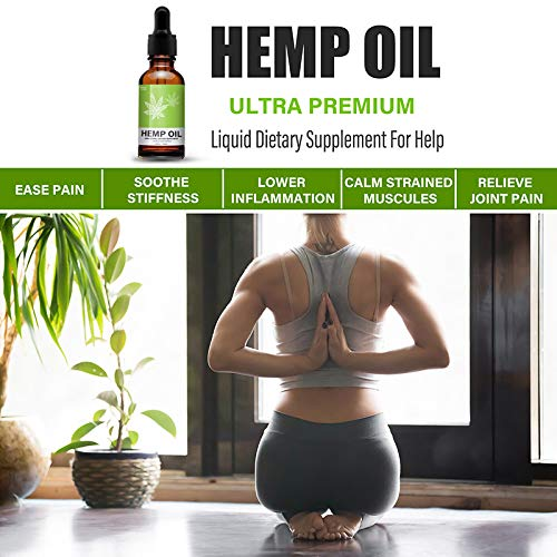 Hemp Oil Extract for Pain, Stress & Anxiety Relief - 5000 MG Sleep Support, Promotes Relaxation, Full Spectrum Extract Drops, Organic Natural Hemp Seed Oil, Rich in Omega 6, 9 Fatty Acids (30ml) by Mespirit (Image #3)