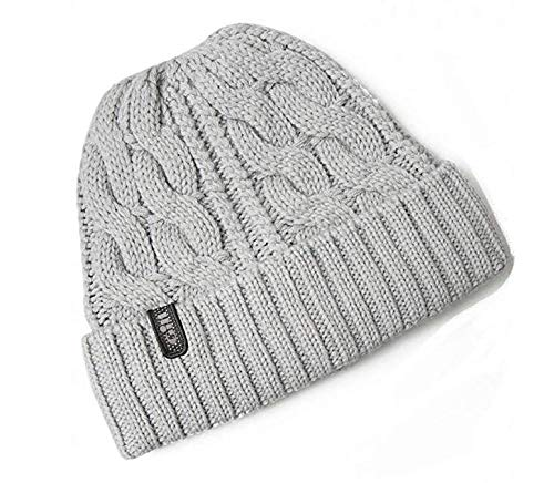 Gill Cable Knit Grey Beanie, One Size