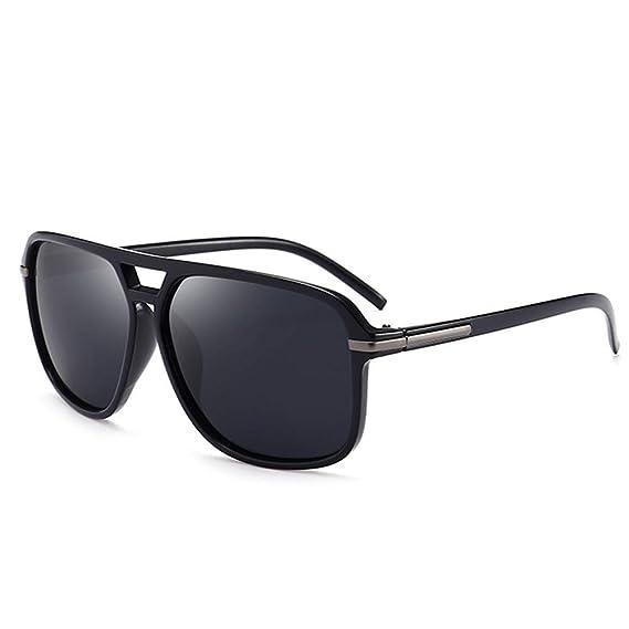 B BIDEN Retro Moda Gafas de Sol Cuadradas para Hombres, Cool Gafas al Aire Libre con Lentes de Protección para Deporte y Conducción