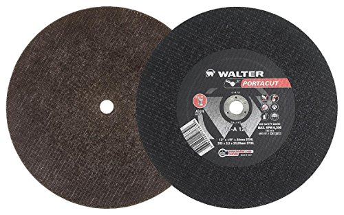 High Speed Gas Saws - Walter Portacut High Speed Cutoff Wheel, Type 1, Round Hole, Aluminum Oxide, 12