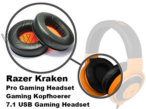 WEWOM 2 almohadillas de repuesto para cascos Razer Kraken, Pro, Pro Neon, 7.1 / Gaming: Amazon.es: Electrónica