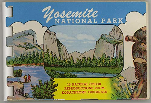 Yosemite National Park - Miniature Souvenir Postcard Photo Album - Plastic Comb