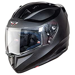 Steelbird SA-1 7Wings Aeronautics Full Face Helmet in Matt Finish (Large 600 MM, Matt Axis Grey with Plain Visor)