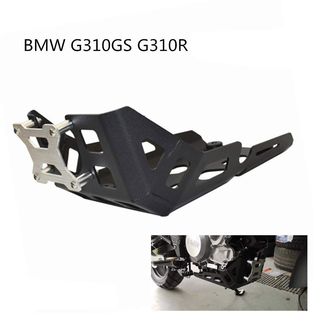 DishyKooker Modificaci/ón de la Motocicleta Motor Cubierta Protectora Cubierta de Underpan para BM-W G310GS G310R 2017-2019 Negro