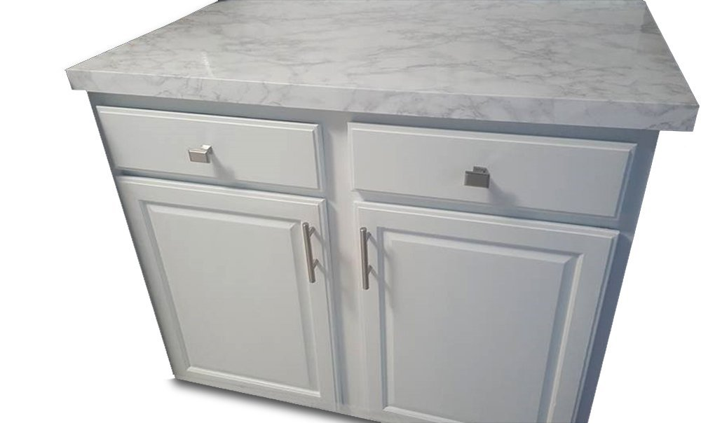 EZ FAUX DECOR Peel and Stick White and Grey Marble Countertop Film 5 Layer NOT CONTACT PAPER 36'' Wide x 20 feet Long