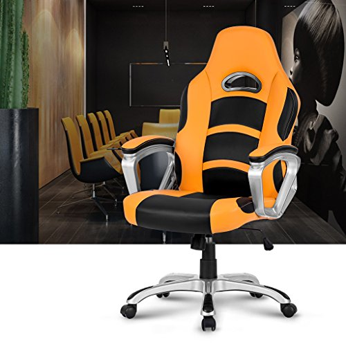 Langria High Back Racing Style Gaming Chair Faux Leather