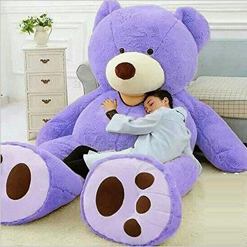 VERCART 8.5 Foot 102 inch Purple Giant Teddy Bear Stuffed Animal Plush Toys Gift for Kids Friends by VERCART
