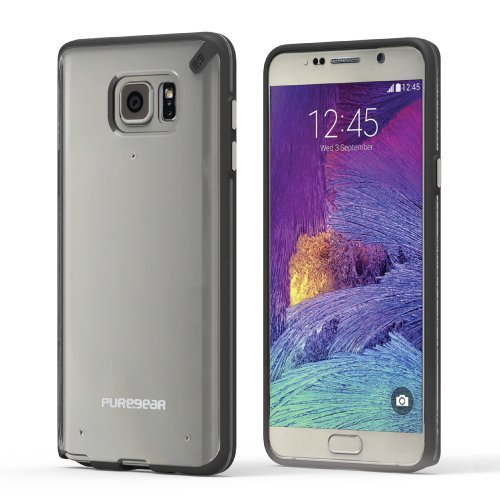 PureGear Slim Shell Case for Samsung Galaxy Note5 - Clear/Bl