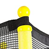 """55"""" Round Youth Kids Trampoline Combo w/Enclosure Net Pad Bounce Highly Elastic Springs Offer A Great Bounce At Each Jump And Safety The Frame Is Supported By Six Legs To Ensure Stability"""