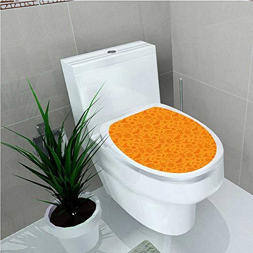aolankaili Toilet Sticker Monochrome Design with Traditional Halloween