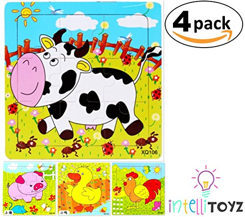 Fun Wooden Colorful Puzzle Jigsaw - 4