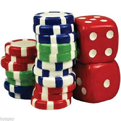 Westland Giftware Mwah Magnetic Poker Chips Salt and Pepper Shaker Set, (Magnetic Poker)