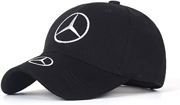 Anaisi Car Logo Embroidered Adjustable Baseball Caps for Men and Women Hat F1 Travel Cap Racing Motor Hat fit Mercedes Benz Black