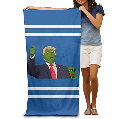 [DEMOO Pepe The Frog Trump Summer Holiday Beach Towel] (Steelers Halloween Costumes For Adults)
