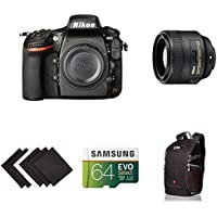 Nikon D810 FX-format Digital SLR Portrait Photography Lens Kit w/ AmaoznBasics Accessories