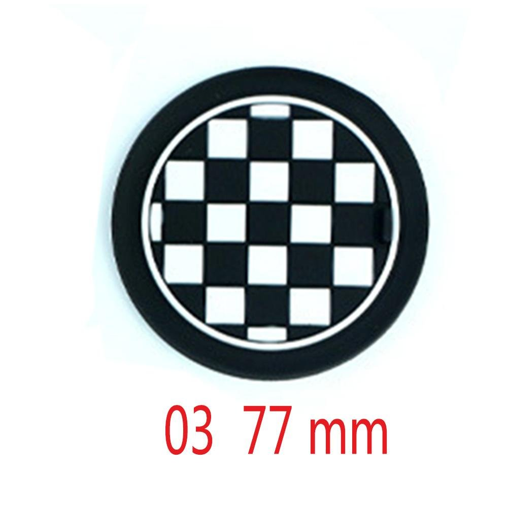 Car Cup Holder Coasters For MINI Cooper R55 R56 R57 R58 R59 Front Cup Holders Black/White Checkered Pattern 2Pcs Silicone
