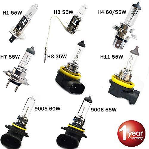 Car Headlight Super Bright Halogen Bulb 1PCS H1 H3 H4 H7 H8 H11 9005 HB3 9006 HB4 12V 4000K Clear Fog Lights Driving Lamp