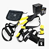 Professional Suspension Trainer KSHOP Load Capacity up to 1000 kg,Suspension Kit Outdoor Anchor Snap Hook Storage Bag Perfect Home Travel Working Out Indoors & Outdoors Black/Yellow