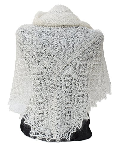 FEDELKEA Luxury Orenburg Shawl Wrap Lace Knitted Wool Goat Down Russian Handmade