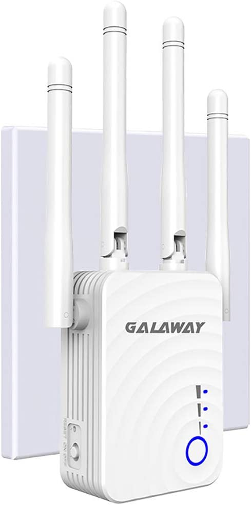 GALAWAY WiFi Booster G1208 Wireless Repeater 1200Mbps/2.4GHz 5 GHz WiFi Extender WiFi Range Booster Four External Antennas Amplifier with Ethernet Ports (G1208CC0)