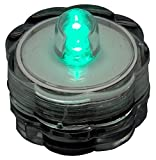 BlueDot Trading 50 turqoise submersible Waterproof LED Candle/Tea Lights