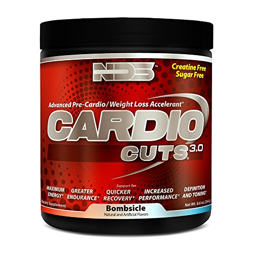 NDS Nutrition Cardio Cuts 3.0 - Advanced Pre-Cardio and Weight Loss Formula with L-Carnitine - Maximum Energy, Greater Endurance, Faster Recovery, Increased Performance - Bombsicle - 40 Servings