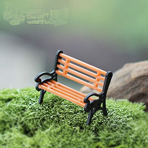 Petite Arch Marker (Zetti Wooden Park Bench Model Doll House Miniature Garden Landscape Microlandschaft Accessories - Pack of 2)