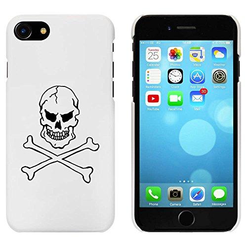Blanc 'Crâne et os Croisés' étui / housse pour iPhone 7 (MC00058158)