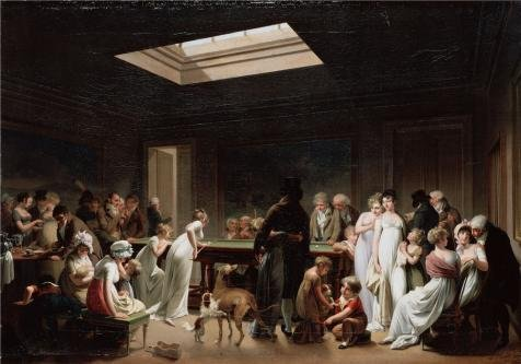 ['A Game of Billiards,1807 By Louis-Leopold Boilly' oil painting, 18x26 inch / 46x65 cm ,printed on high quality polyster Canvas ,this Vivid Art Decorative Prints on Canvas is perfectly suitalbe for Home Theater artwork and Home decoration and] (Billiard Girl Costume)