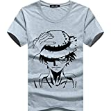 Men's casual Short-sleeved cotton T-shirt Luffy pattern