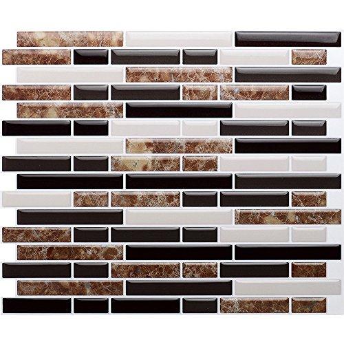 Vamos Tile Premium Anti Mold Peel and Stick Tile Backsplash,Stick On Backsplash Wall Tiles for Kitchen & Bathroom-Removable,Self Adhesive-11
