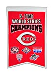 MLB Cincinnati Reds 5 Time WS Champions Banner, One Size