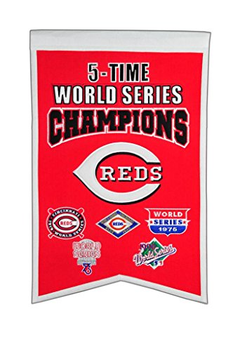 MLB Cincinnati Reds 5 Time WS Champions Banner, One Size ()