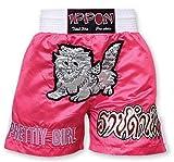 M.A.R International Ltd Kick Boxing & Thai Boxing Shorts Kickboxing Bottoms Mma Pants Boxing Clothing Muay Thai K1 Gear Polyester Satin Fabric Pink