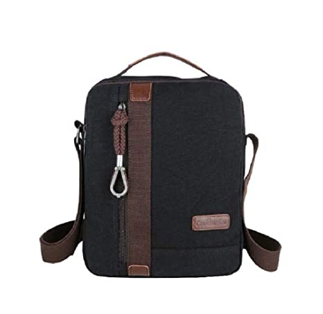 9a96b9f6fe MiCoolker Canvas Small Vintage Multipurpose Shoulder Bag Men s Messenger  Handbag Purse Ipad Carrying Tote Case Crossbody