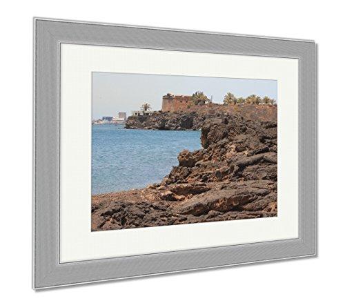 Ashley Framed Prints Stiffened Lava On Coast Of Sea Gulf Arrecife Lanzarote Spain, Wall Art Home Decoration, Color, 26x30 (frame size), Silver Frame, AG6536218 by Ashley Framed Prints