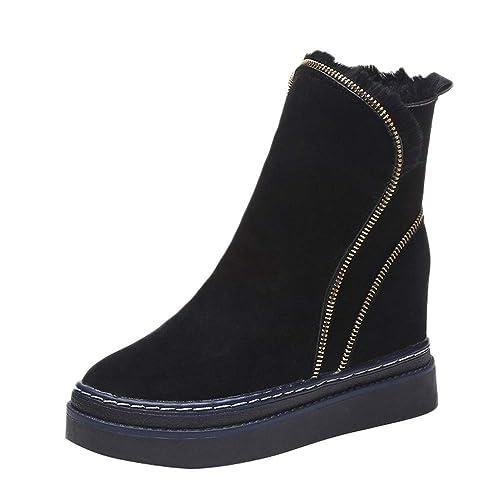 Botas y Botines de Nieve Plataforma para Mujer Otoño Invierno 2018 Moda PAOLIAN Botas Militares con Lana Caliente Medio Botas Vaqueras Zapatos Más ...