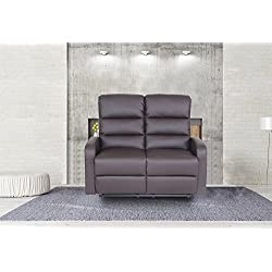 Modern Faux Leather Living Room Furniture Recliner Chair, Loveseat, Sofa Size 2 Seater