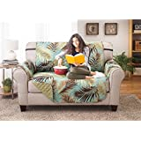 deluxe reversible loveseat furniture protector palm sage