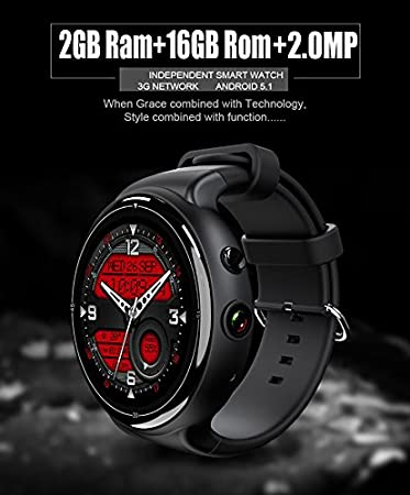 Amazon.com: TORTOYO I4 Air 3G Smart Watch Phone 1.39 ...