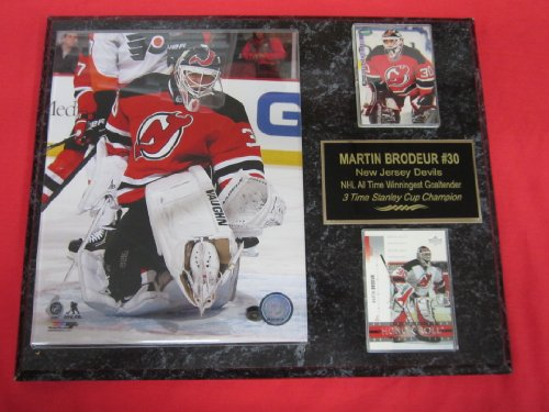 Martin Brodeur New Jersey Devils 2 Card Collector Plaque w/2014 8x10 Photo - Devils Plaque Jersey New