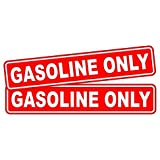 Pair GASOLINE ONLY Decals / Stickers / Labels / Markers Fuel Gas