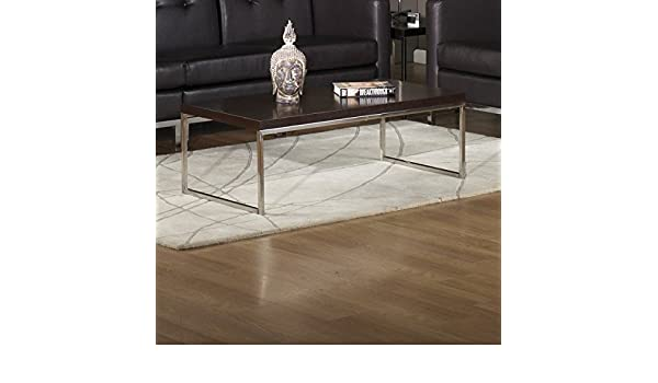 Delwood Coffee Table.Amazon Com Contemporary Living Room Wood Top Rectangular Coffee